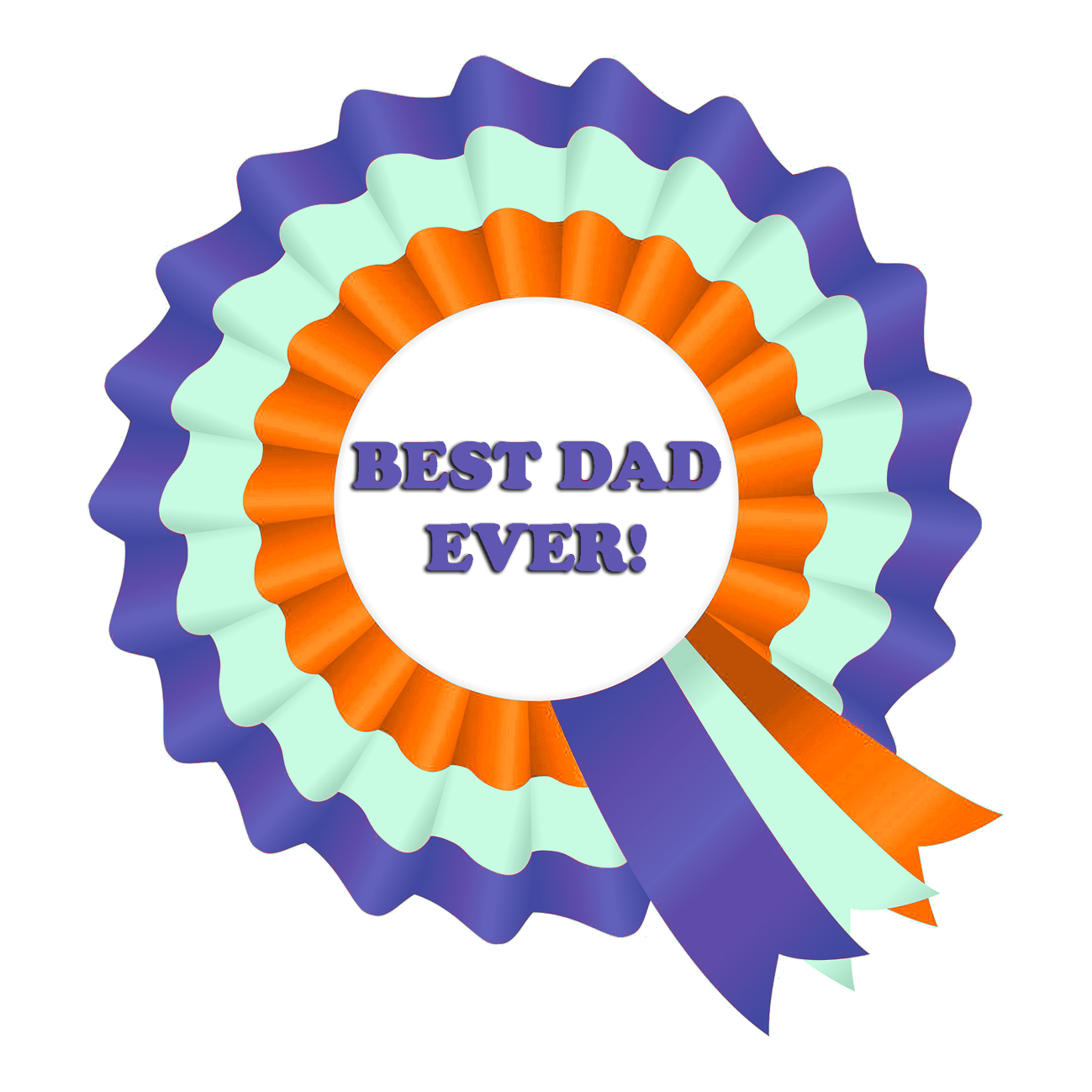 1st price ribbon best dad ever