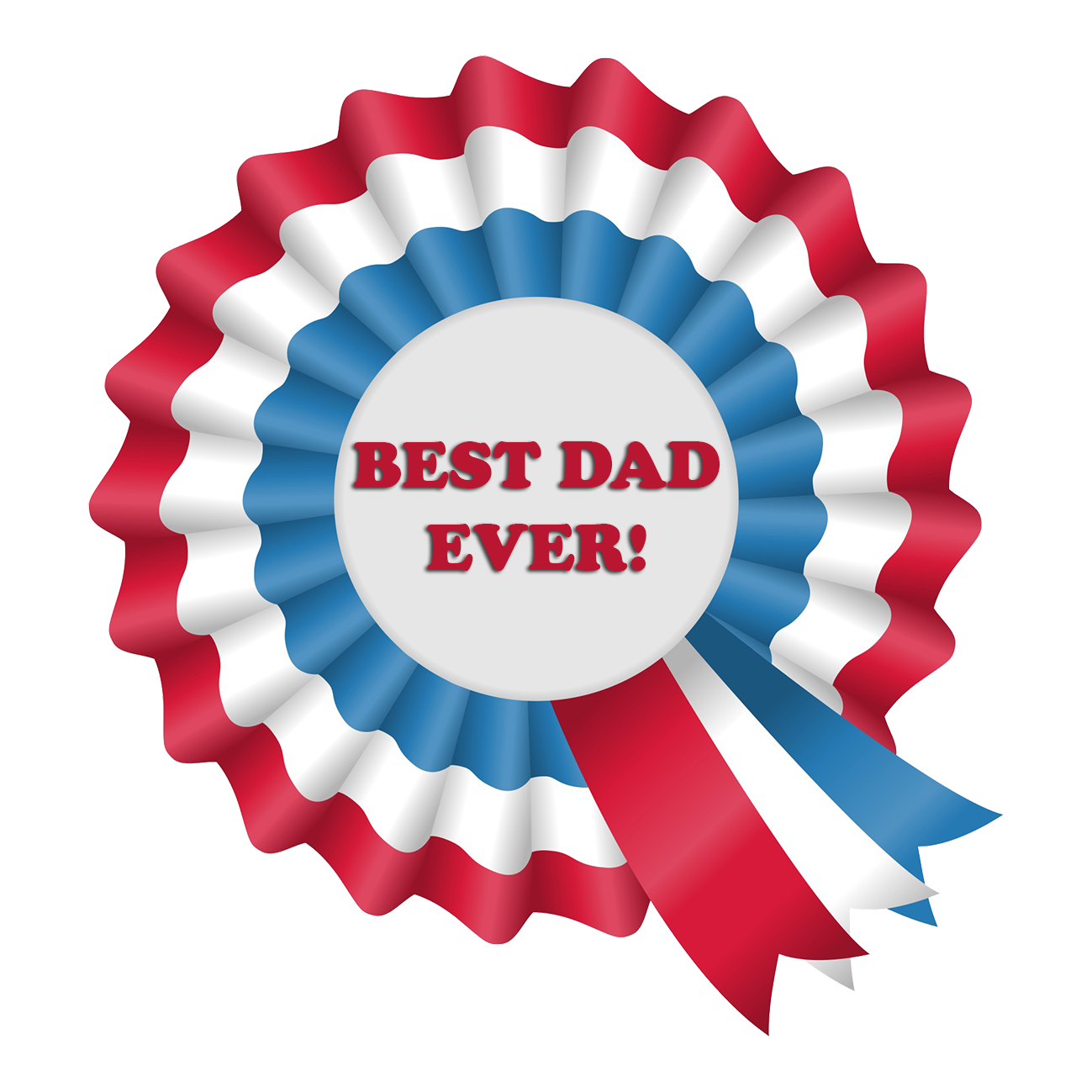 best dad ever 1st price ribbon
