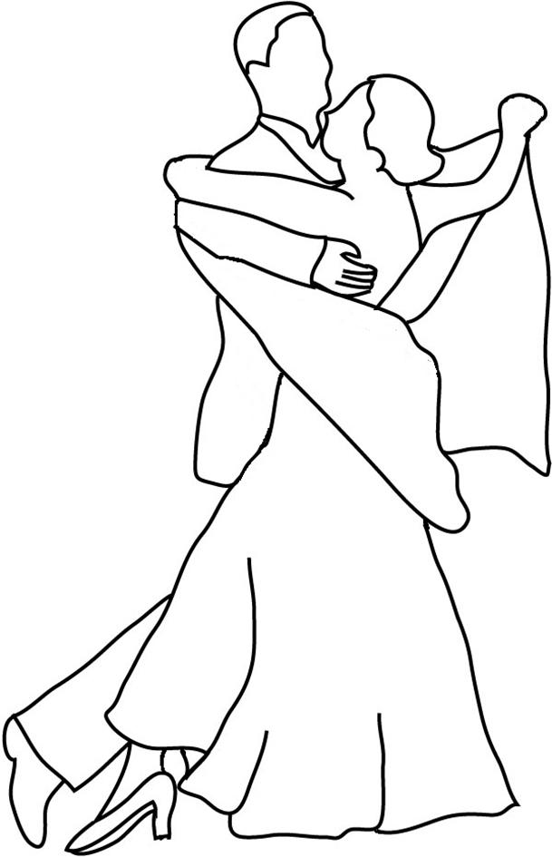 dance silhouettes couple dancing Walz