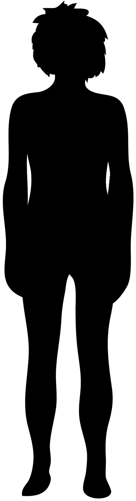Black female silhouette with short hair