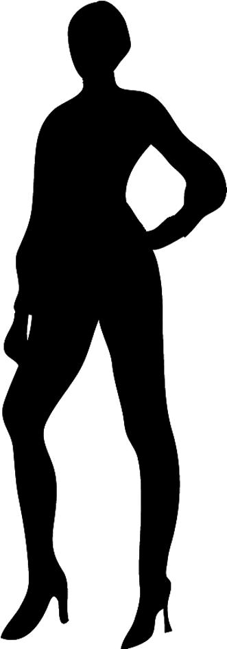 slender female silhouette
