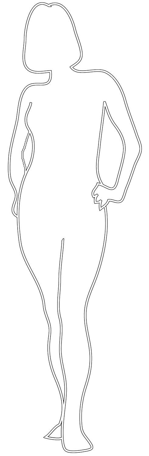 female silhouette outline