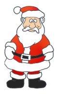 Santa Claus Clipart funny Santa