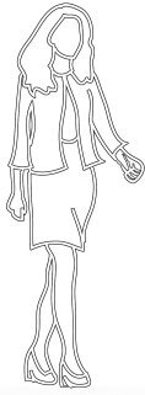 female silhouette business woman walking