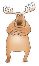 Angry reindeer