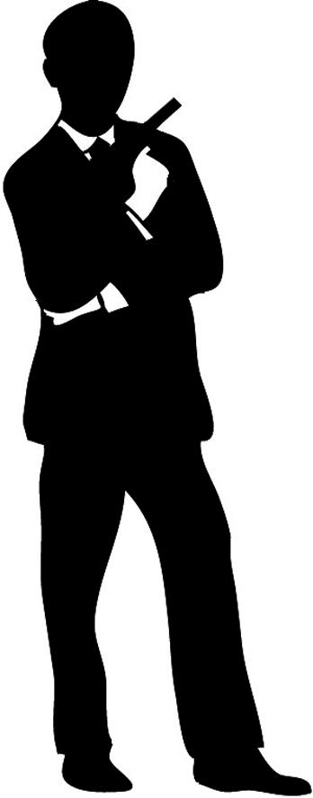 man with gun silhouette