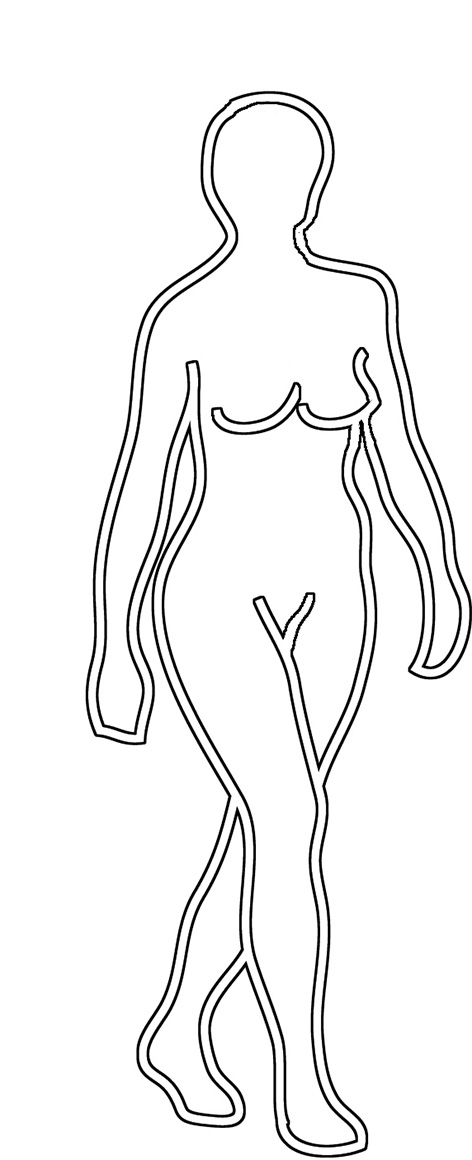 body silhouette clip art woman