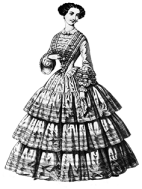 victorian clothing clipart