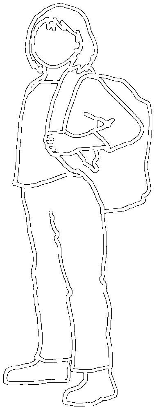 silhouette of school girl