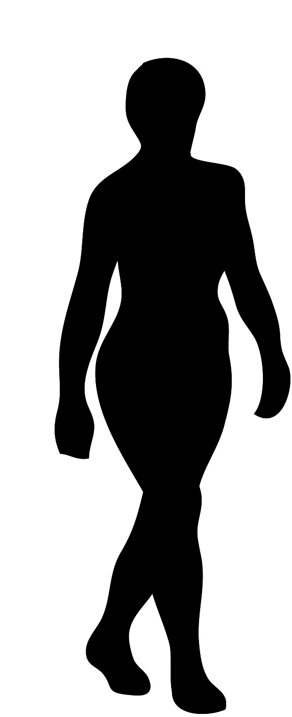 body silhouette woman black