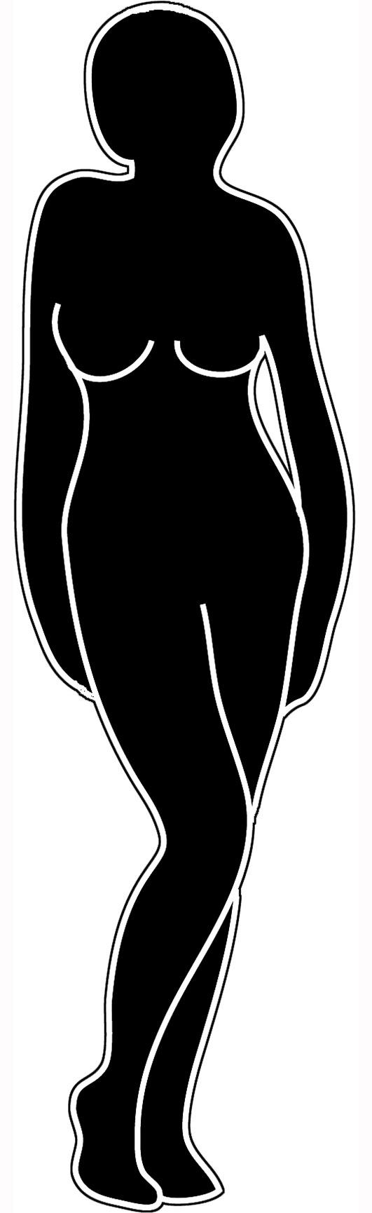 black white silhouette of female
