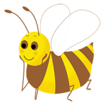 bee clipart drawing