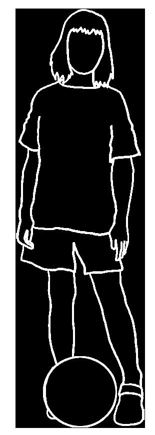 white stroke silhouette of girl