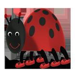 ladybug clipart funny