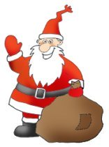 father christmas with presents