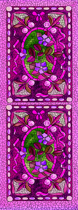 purple mosaics bookmark