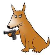 dog with gun