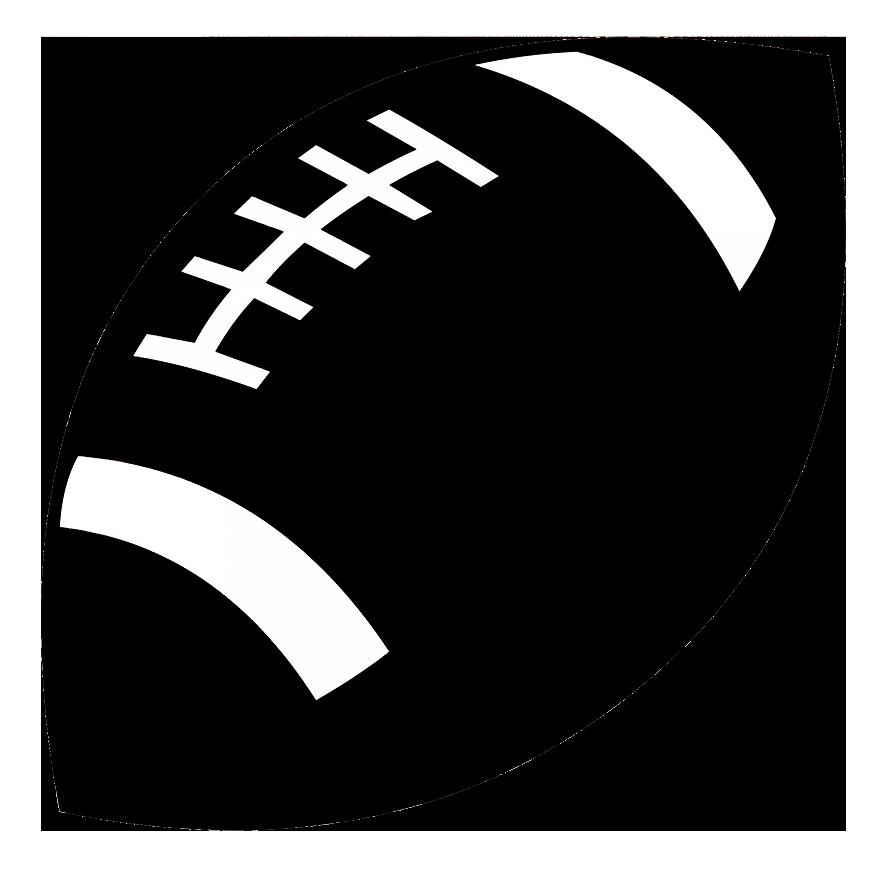 football ball silhouette