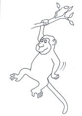funny-monkey-drawings-black-white