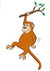 funny-monkey-drawings-branch