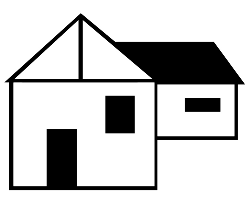 silhouette of farm