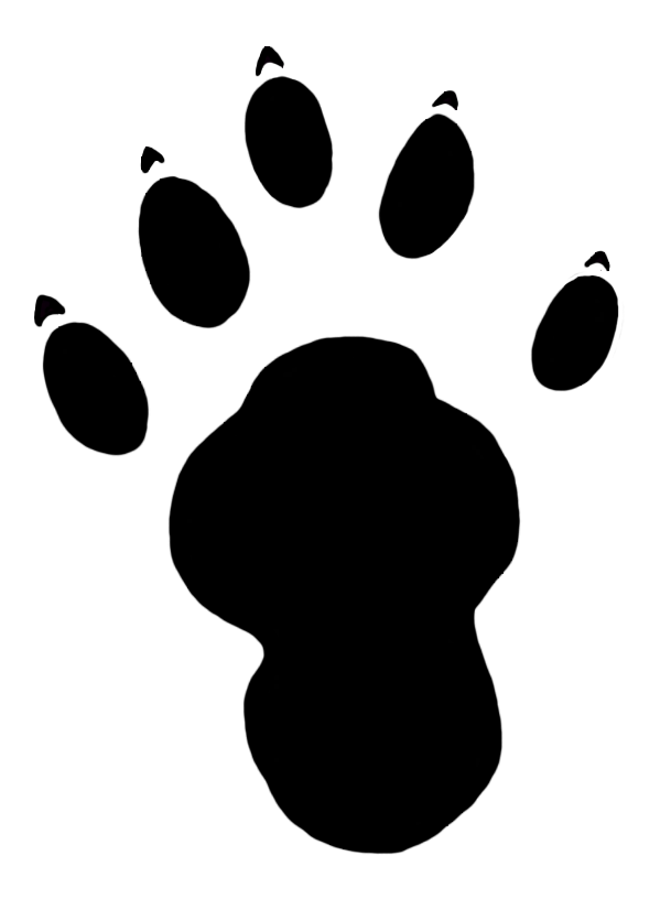 paw print clipart otter