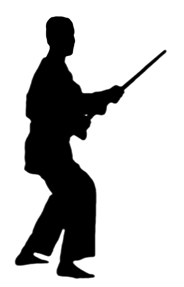 clipart of martial arts position