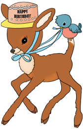 bambi birthday clipart