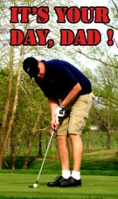 fathers day greeting playing golf