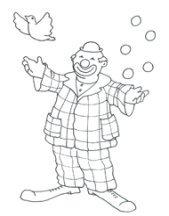 Sketch party clip art clown
