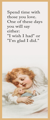 printable bookmark drawing sleeping child