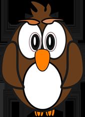 cartoon owls starnge owl