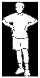 white silhouette boy