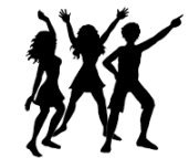 party clip art silhouettes dancers