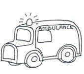 Medical clipart ambulance black white