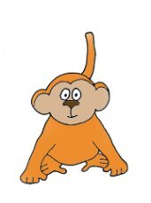 funny monkey clip art young one