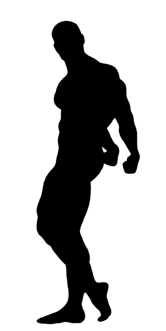 bodybuilder posing clipart