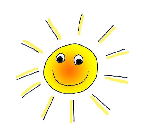 summer clipart sun shining