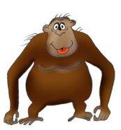 funny monkey drawings gorilla