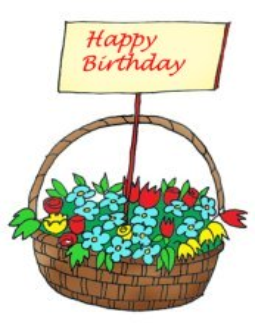 precious moments clipart birthday flowers