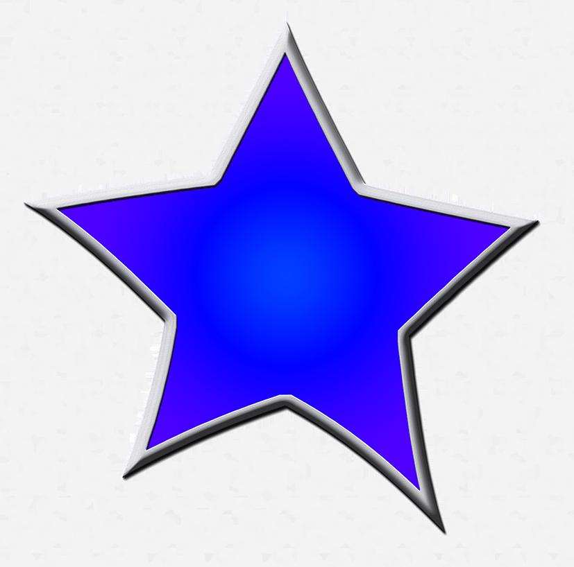 dark blue framed star