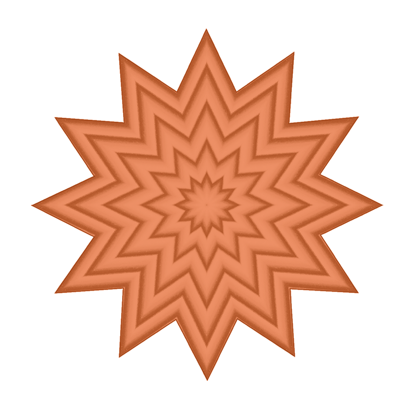 orange star pattern