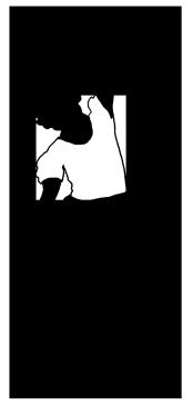 black white silhouette of girl dancing ballet