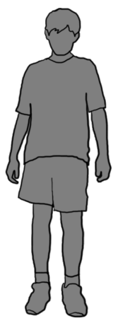 grey silhouette of boy