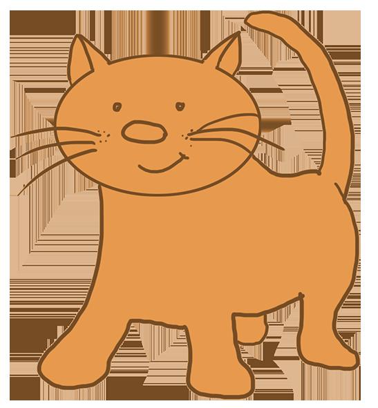 cartoon cat light brown