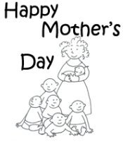 black and white happy mothers day
