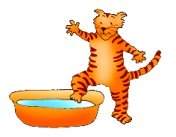 cat clip art cat taking a bath
