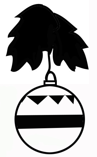 christmas tree decorations silhouette black