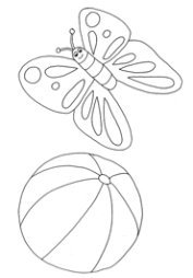 summer clip art butterfly and ball