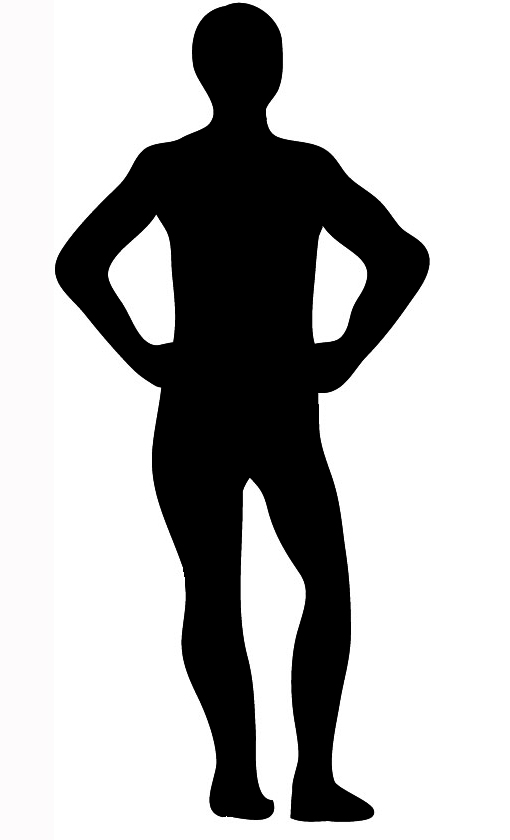 silhouette back of man standing